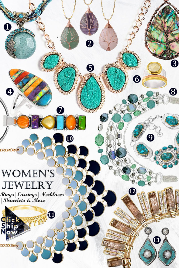 Women's Jewelry Collection Rings, Earrings, Necklaces, Bracelets & More ClickShipNow