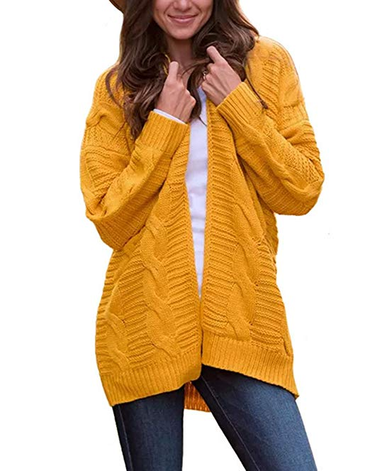 Chunky Knit Cardigans & Sweaters Women's Must-have Fall Outfits, Autumn Street Style ClickShipNow AZ 02