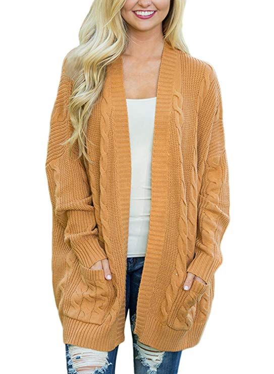 Chunky Knit Cardigans & Sweaters Women's Must-have Fall Outfits, Autumn Street Style ClickShipNow AZ 04