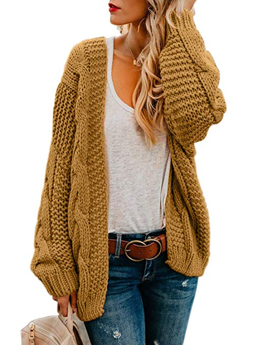Chunky Knit Cardigans & Sweaters Women's Must-have Fall Outfits, Autumn Street Style ClickShipNow AZ 05