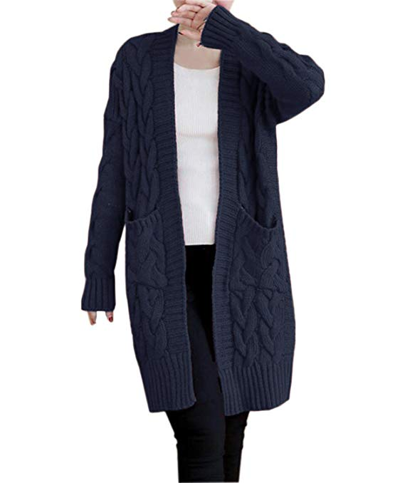 Chunky Knit Cardigans & Sweaters Women's Must-have Fall Outfits, Autumn Street Style ClickShipNow AZ 07