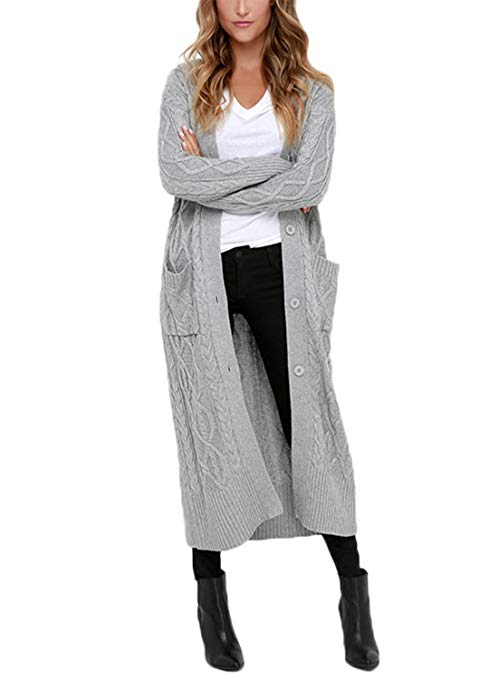 Chunky Knit Cardigans & Sweaters Women's Must-have Fall Outfits, Autumn Street Style ClickShipNow AZ 08