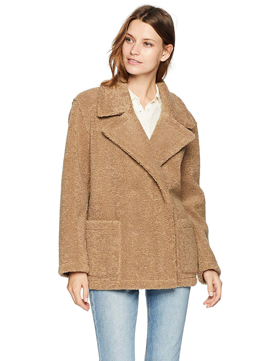 Teddy Bear Coats & Sherpa Jackets Women's Must-have Fall Winter Outfits a01