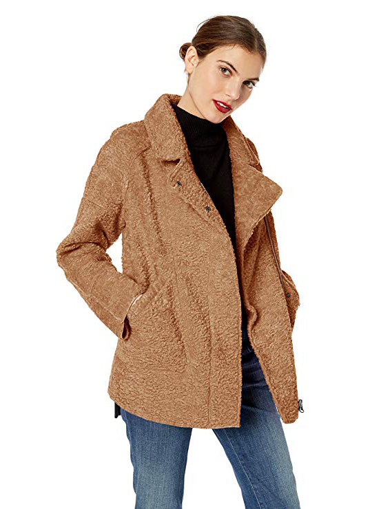 teddy bear coats sherpa jackets women s must have fall. Black Bedroom Furniture Sets. Home Design Ideas