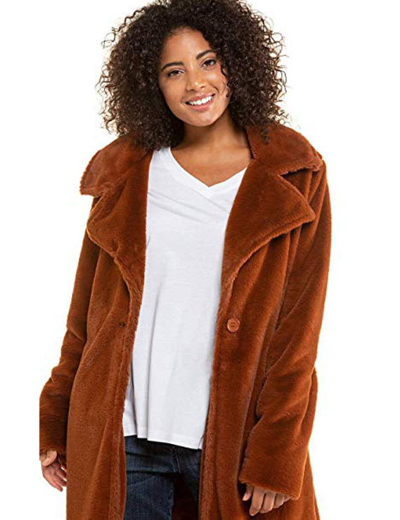 Teddy Bear Coats & Sherpa Jackets Women's Must-have Fall Winter Outfits a07