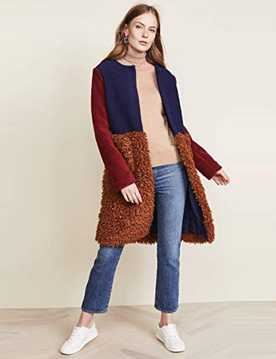 Teddy Bear Coats & Sherpa Jackets Women's Must-have Fall Winter Outfits a12