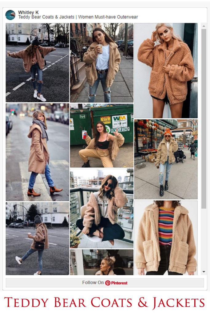 Teddy Bear Coats & Sherpa Jackets Women's Must-have Fall Winter Outfits z01